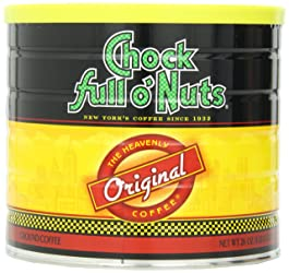 CHOCK FULL O NUTS Original Ground Coffee Canister, 26 oz