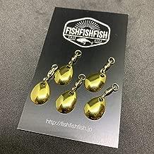 【FISHFISHFISH】コロラドブレード 5枚セット Sサイズ メタリック カラー/ルアー改造 メタルジグ スピナー スピンテール用 ブレードチューン