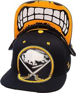 Zephyr NHL Menace Adjustable Snapback Cap - NHL Flat Bill, One Size Baseball Hat
