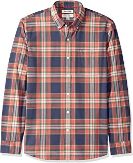 Amazon Brand - Goodthreads Men's Long-Sleeve Plaid Oxford Shirt