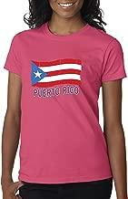 New Way 720 - Women's T-Shirt Puerto Rico Flag PR Distressed