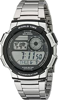 Casio Men's AE1000WD-1AVCF Silver-Tone Digital Watch