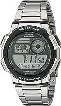 Casio Men's AE1000WD-1AVCF Silver-Tone Digital Watch