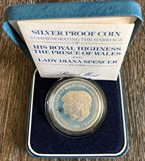 1981 UK Royal Mint Silver Proof Coin - Commemorating Wedding Royal Highness