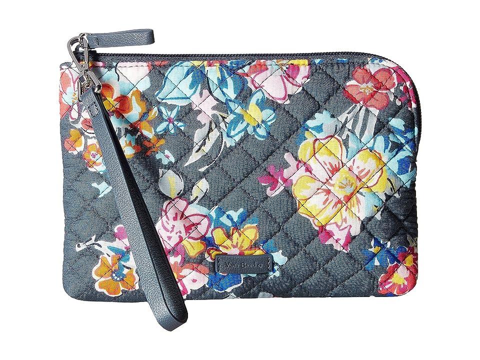 Vera Bradley Iconic Pouch Wristlet (Pretty Posies) Wristlet Handbags