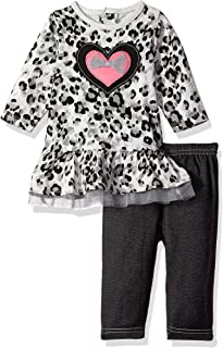 BON BEBE Baby Girls' 2 Piece Dress and Jegging Set Newborn