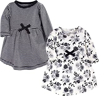 Touched by Nature Baby Girls` Organic Cotton Long-Sleeve Dresses