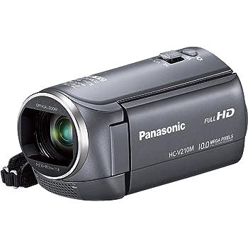 パナソニック デジタルハイビジョンビデオカメラ V210 内蔵メモリー8GB グレー HC-V210M-H