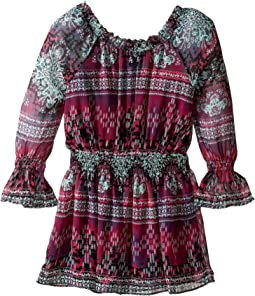 Cici Printed Peasant Dress (Big Kids)