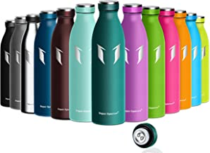 Super Sparrow Borraccia Termica – 350ml, 500ml, 750ml - Bottiglia Acciaio Inox Isolamento - Senza BPA - Borracce per Bambini, Scuola, Sport, All'aperto, Palestra, Yoga