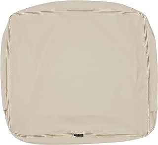 Classic Accessories Montlake Patio Back Cushion Slip Cover, Antique Beige, 21x20x4