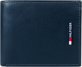 Tommy Hilfiger Men's Leather Wallet-Bifold with RFID Blocking Protection, black, One Size