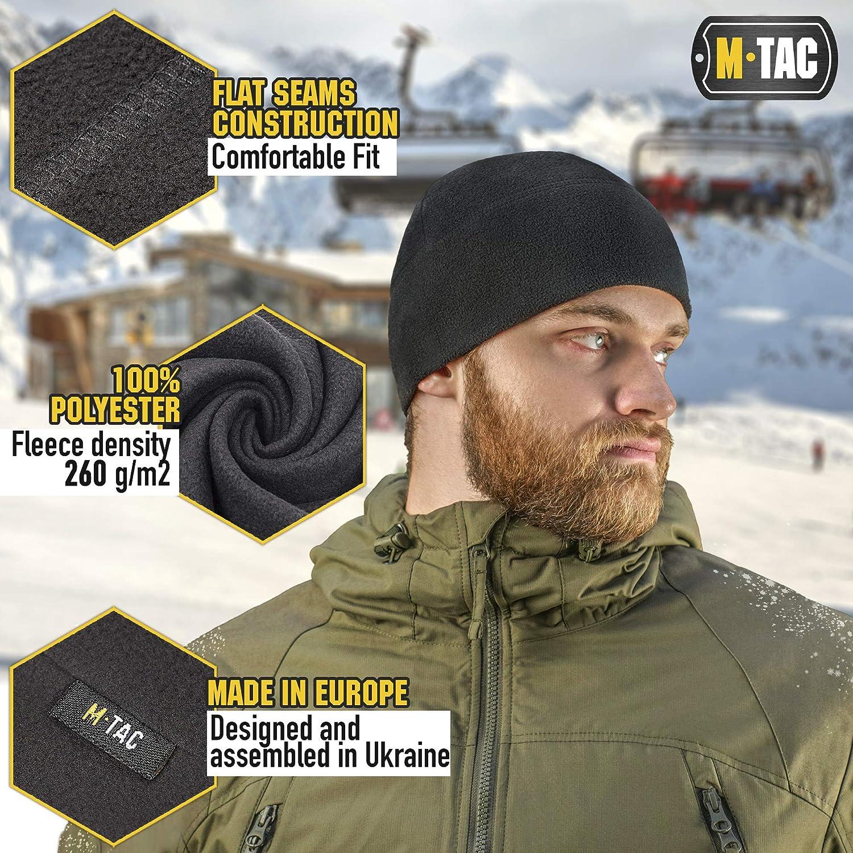 Winter Army Beanie Fleece Cap M-Tac Low Profile Tactical Beanie for Men