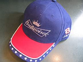 Dale Earnhardt Jr #8 Budweiser Bud Patriotic Red White Blue White White Stars Hat Cap One Size Fits Most OSFM Winners Circle