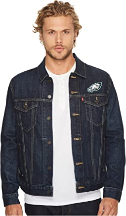 Eagles Sports Denim Trucker