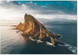 Panorama Póster Islas Faroe 70 x 50 cm - Láminas