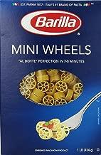 Barilla Pasta, Mini Wheels Pasta, Rotelle, One 16 Ounce Box of Small Pasta