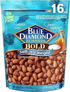 Blue Diamond Almonds, Bold Salt 'n Vinegar, 16 Ounce (Pack of 1)