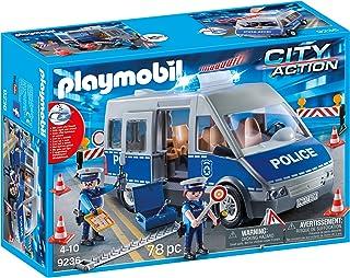PLAYMOBIL Policía- Furgón con Control de Tráfico, única (9236)