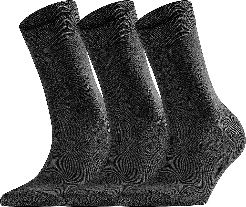 Falke Socken Cotton Touch Baumwolle Damen Schwarz Verstärkte Damensocken Ohne Muster Atmungsaktiv Dünn Und Einfarbig Im Multipack 3 Paar Bekleidung