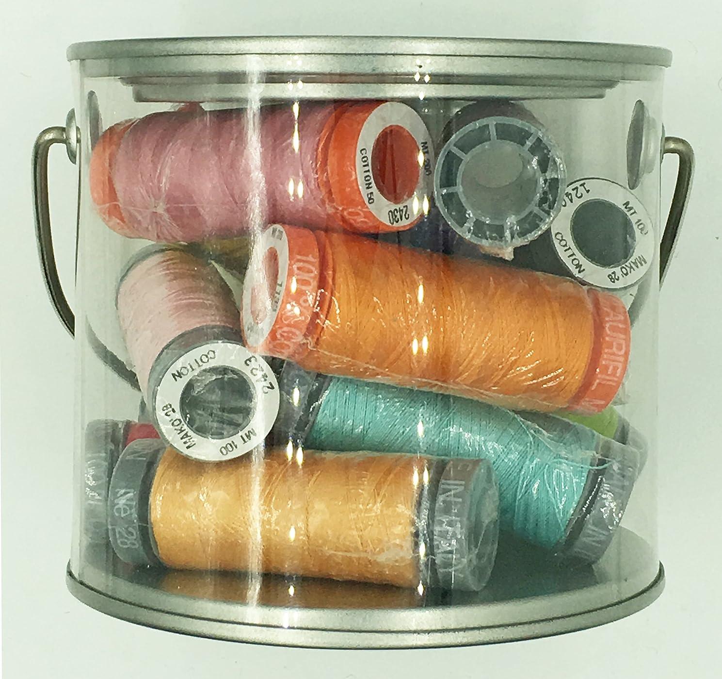 Bucket of Assorted Aurifil Thread - 12 Spools