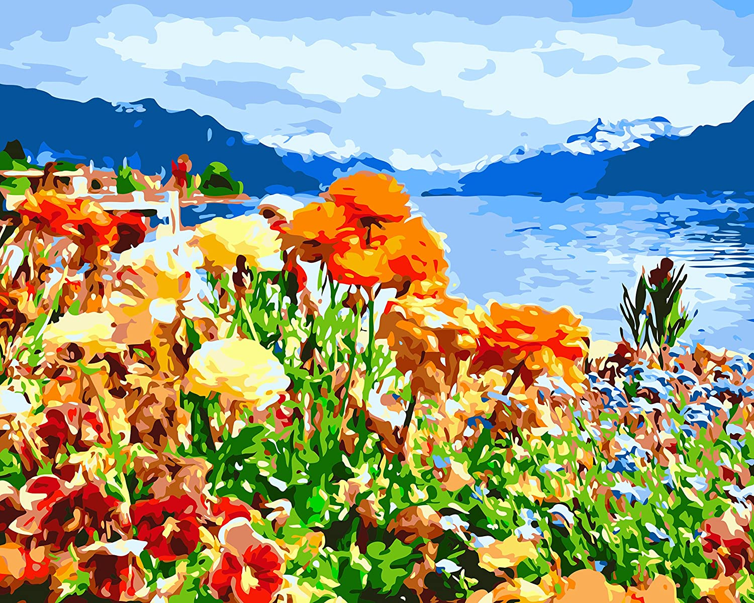 Wildflower Ranking TOP14 Lake Paint by Numbers Painting Acrylic Adults for Rare DIY