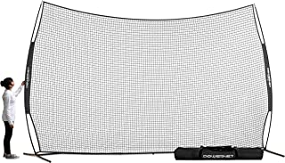 PowerNet 16 ft x 10 ft Sports Barrier Net   160 SqFt of Protection   Safety Backstop   Portable EZ Setup Barricade for Bas...