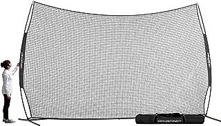 PowerNet 16 ft x 10 ft Sports Barrier Net   160 SqFt of Protection   Safety Backstop   Portable EZ Setup Barricade for Baseball, Lacrosse, Basketball, Soccer, Field Hockey, Softball