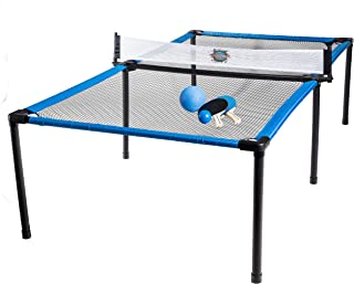 Franklin Sports SypderPong Tennis - Table Tennis, Volleyball and 4-Square Outdoor Game - Indoor or Outdoor Game for Kids - Includes Net, Table, Paddles and Ball