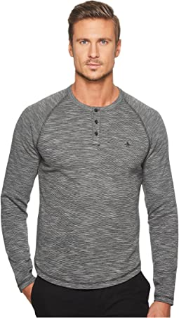 Original Penguin - Long Sleeve Slub Double Knit Henley
