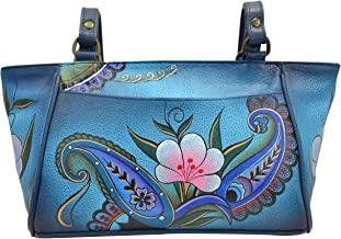Anna by Anuschka Genuine Leather Small Tote Handbag | Hand-Painted Original Artwork