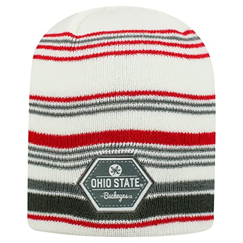 af5d330663a Top of the World Ohio State Buckeyes Official NCAA Uncuffed Knit Channel  Stocking Stretch Sock Hat