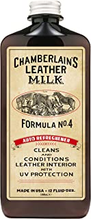 Leather Milk Auto Leather Conditioner and Cleaner with UV Protection - Auto Refreshener No. 4 - All Natural, Non-Toxic Auto Leather Interior Care. Made in USA. 2 Sizes. Applicator Pad Included.
