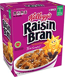 ケロッグ レーズンブラン シリアル、76.5 オンス ボックス Kellogg's Raisin Bran Cereal, 76.5-Ounce Box