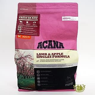ACANA Lamb & Apple Singles Formula Dry Dog Food 4.5 lb. Bag Limited Ingredient | BIOLOGICALLY Appropriate