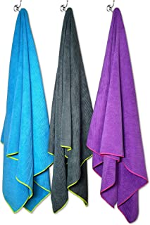 Flow Quick Dry Swim Towel - Microfiber Sports Towels for Competitive Swimming Available in Large and Medium Sizes