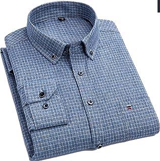 Outwears Fat Guy Plus Tamaño 5XL 6XL 7XL 8XL 100% Algodón Completo Cuadros Negocios Casual Camisa Hombres Manga Larga Fran...