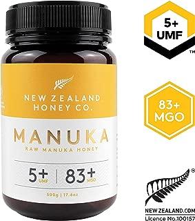 New Zealand Honey Co. Raw Manuka Honey UMF 5+   MGO 83+, 17.6oz. / 500g