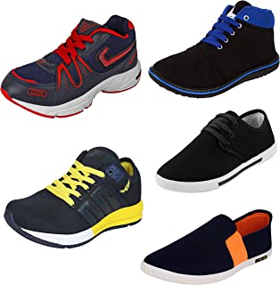 WORLD WEAR FOOTWEAR Men's Combo Classic Casual Loafers & Sneakers Latest Trending Shoes