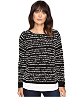 Calvin Klein - Striped Twofer Long Sleeve Sweater