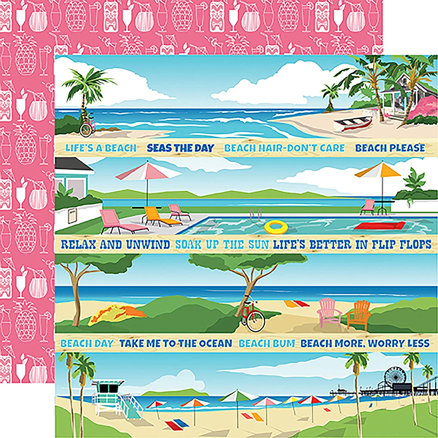 Carta Bella Quantity limited Summer Opening large release sale Splash Cardstock Double-Sided Multicolor