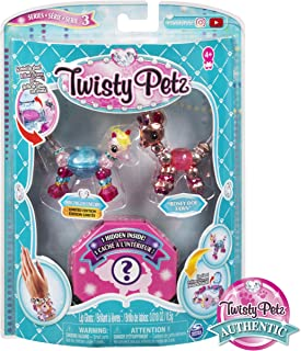 Twisty Petz, Series 3 Pack, Miss Unigloss Unicorn, Rosey Doe Fawn & Surprise Collectible Bracelet Set for Kids Aged 4 & Up