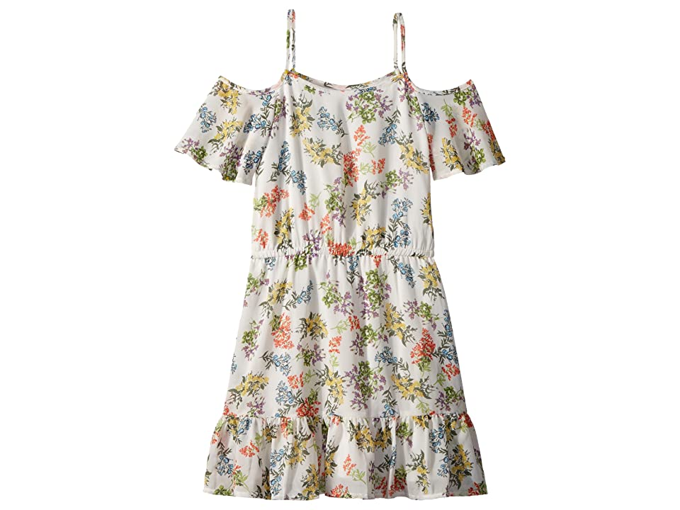 Ella Moss Girl Floral Print Chiffon Dress (Big Kids) (Full Sail/Floral) Girl