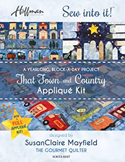 That Town and Country Applique Fabric Kit Hoffman Sew Into It SusanClaire Mayfield