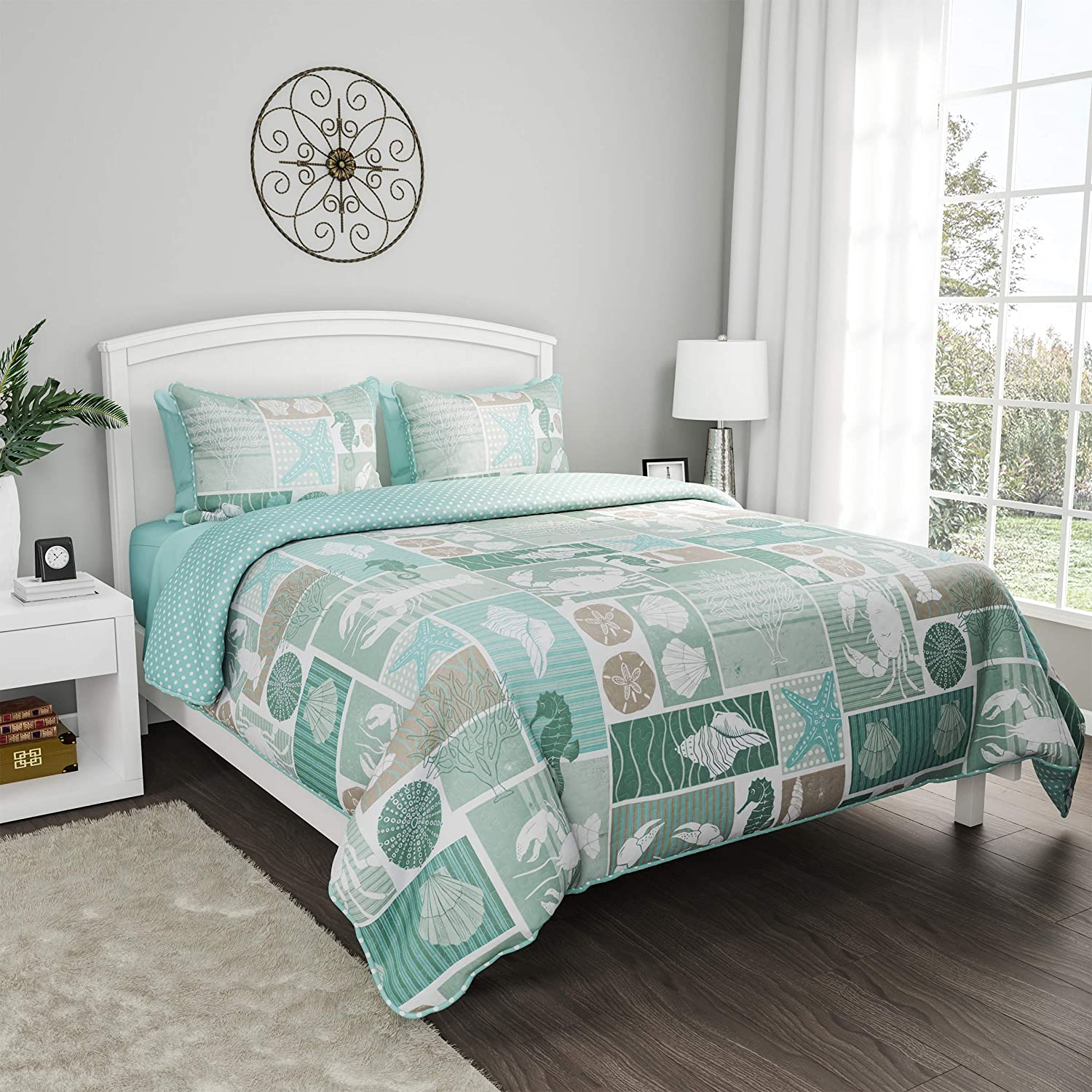 Translated Lavish Home Collection 3-Piece Quilt Manufacturer OFFicial shop and Tow Shams Set