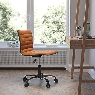 Flash Furniture Task Office Chairs, Brown Vinyl/Black Frame