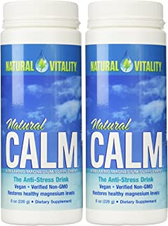 Natural Vitality Natural Magnesium Calm (2 Bottles of 8 Ounce)