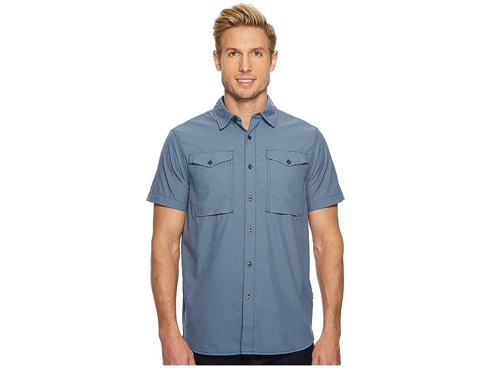 The North Face Short Sleeve Monanock Utility Shirt (Shady Blue) Men