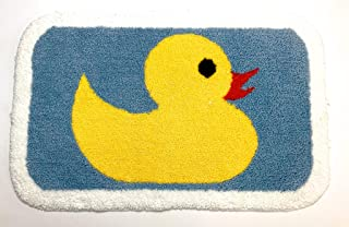 Microfiber Bathroom mat Door mat Kitchen mat Machine Washable Bathroom Rug Yellow Duck Shaggy Anti Slip Non Slip mat high Pile Soft 1.8cm(0.7 inch) Math Size 50cm x 80cm(20x32 inches)