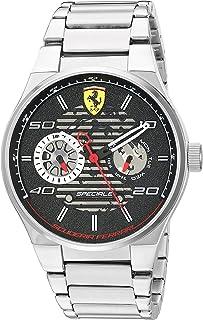 Ferrari Men's Speciale Quartz Watch with Stainless-Steel Strap, Silver, 26 (Model: 830432)